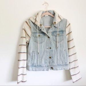 Billabong spend hooded Jean jacket